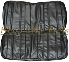 1968 Plymouth Barracuda Seat Covers Fastback Back / Rear Upholstery Skins Black