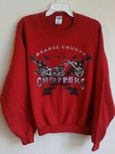 Orange county choppers Red pull over sweater size X-large--SOFT--VRY GD COND!