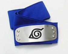 Naruto Anime Ninja Cosplay Forehead Band Protector Headband: Leaf Village (Blue)