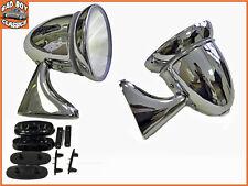 Pair Adjustable Classic Chrome Door Bullet Torpedo Mirrors MG, MINI, TRIUMPH etc