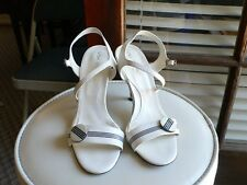 Via Spiga High Heel Shoes Size 6M Leather Upper and Bottom White Color