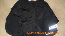 Lot of 4 GENUINE PFU  ARMY PHYSICAL FITNESS UNIFORM TRUNKS  BLACK USED LARGE