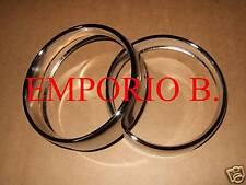 Coppia Cornici Faro in Acciaio Cromato FIAT 500
