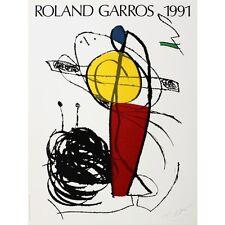 TENNIS ART PRINT - Roland Garros, 1991 by Joan Miro Original Poster Out of Print