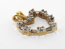 Ladies 18K Yellow Gold Diamond Heart Pendant