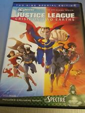 JUSTICE LEAGUE CRISIS ON TWO EARTHS DVD REGION 1 INCLUDES SHORT THE SPECTRE DC