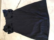 ESPIRT LADIES NAVY SHIFT DRESS SIZE SMALL WITH RUFFLE SLEEVE EXCELLENT CONDITION