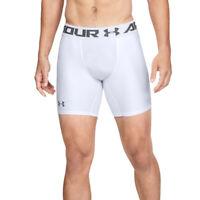 Under Armour UA Mens White Compression HeatGear 2.0 Long Base Layer Shorts M