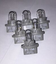 6 x NEW OEM GE PC194 PC 194 Light Bulb With Twist Lock Base Socket Clear