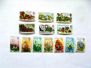 FALKLANDS ISLANDS: 1971Decimal Ovpt Flowers  13 stamps to 25p M/M Sg363/75
