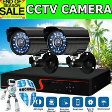 2000TVL CCTV Camera 4 Channel AHD DVR Outdoor Security Complete System Kit