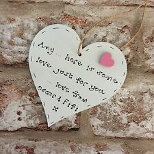 Thinking of you gift  get well soon gift personalised wooden heart sending some