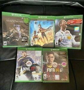 XBox One Games- FIFA 14, FIFA 17, FIFA 18, NHL 17, RECORE, & Shadow of War !!