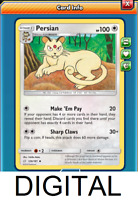 Pokemon PERSIAN 126//181 UNCOMMON REVERSE HOLOFOILNM CARD  TEAM UP