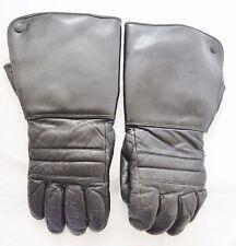 Vintage Motorcycle Gloves Biker Long Leather Lined Distress Black Men's L