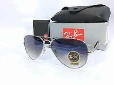 Ray Ban Aviator RB3025 003/3F Silver Frame Gradient Light Blue Lens 58mm