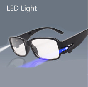 LED Reading Glasses-Presbyopic Glasses with LED Light Power/Diopter Yellow UV