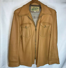 New listing 1970's Vintage Tan Deerskin Jacket MidWestern Sport Togs Mens 42 Medium Talon