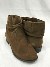 American Eagle Outfitters Size 8.5 Womens Brown Suede Pull On Booties Boots