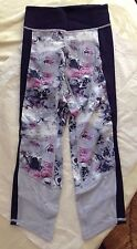 NWT Lululemon If You're Lucky Crop ~ Sz 2 ~ Moody Mirage White Naval Blue Silver