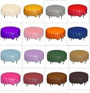 Round Plastic Table Cloths Christmas Wedding Birthday Halloween 7ft (2.13m)