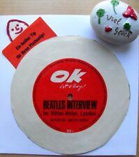 """BEATLES INTERVIEW im Hilton-Hotel London★Aus der Zeitschrift """"OK""""★Flexi Single"""