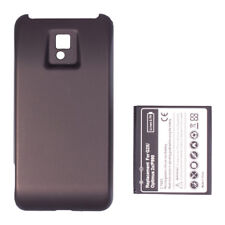 Replacement Extended Battery + Back Cover Case For LG Optimus 2X P990 G2X Black