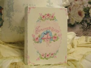 "Shabby Chic Hand Painted Roses - ""Romance & Roses"" Book Box"