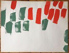 Alonso Angel Gouache sur papier signée datée 1960 art abstrait abstraction
