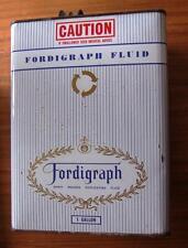 Vintage Fordigraph Fluid 1 Gallon Can / Tin. Spirit Duplicator