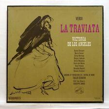 ASDF 166/8 DE LOS ANGELES, SERAFIN - VERDI la traviata EMI ORIG stereo 3xLPs box