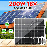 400W 2x200W DC 18V  Waterproof Solar Panel Cell Battery Charging For RV Car Boat