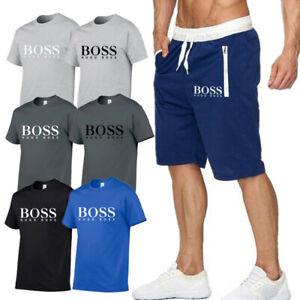 Herren T-shirt Und Shorts Anzug Jogginganzug Freizeitanzug Kurze Hose Sports 21*