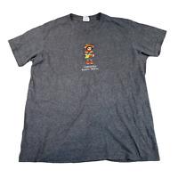 VINTAGE Yazbek Mens T Shirt Large Grey Ethnic Compostela Nayarit Mexico Tee