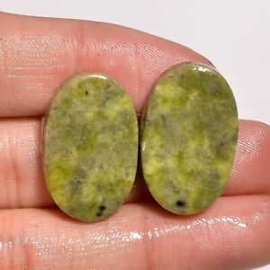 45x27x6 MM Size C3872 AAA Quality Serpentine Cabochons Loose Gemstone Natural Serpentine Pear Shape Smooth Cabochon