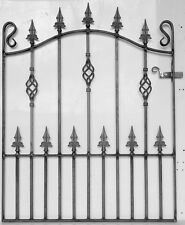 wrought iron single gate, garden gate, ornate gate.- 3ft (914mm) opening (SIN5)