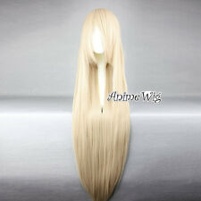 Lolita Blonde Long 100CM Straight Hair Basic Party Women + Free Cap Cosplay Wig