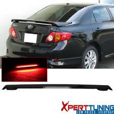 Fits 09-13 Toyota Corolla Sedan S Le Xle Xrs Matte Black Trunk Spoiler Led Brake