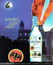 PUBLICITE ADVERTISING 026  2002  Baccardi  Rhum de Cuba