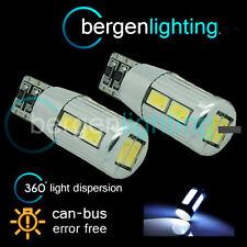2x W5W T10 501 Canbus Nessun Errore Bianco 10 LED SMD LATO FRECCE LAMPADINE