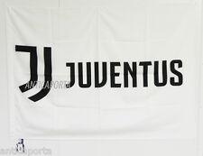 Bandiera Gigante Juventus originale nuovo logo 2017 ufficiale bianca juve 133x96