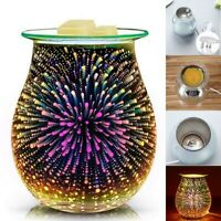 Desire Aroma Electric Wax Melt Burner 3D Fireworks Night Light Tart Wax Warmer