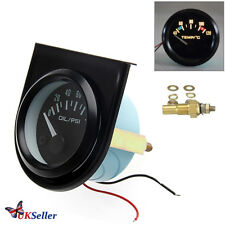 "2"" 52mm Car Pointer Water Temperature Temp Gauge LED Light 40-120℃"
