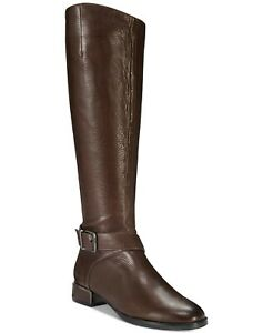 Kenneth Cole Branden Women Knee High Riding Boots Buckle Leather