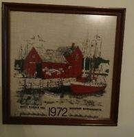 Framed Glass Fabric Print Motif #1 Rockport MA 1972