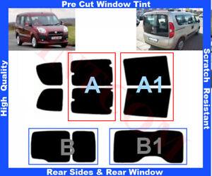 Fiat Doblo 2010-... Pre-Cut Window Tint 5%-50% Rear Window & Rear Sides