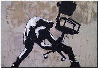 "BANKSY STREET ART CANVAS PRINT love hurts 16""X 12"" stencil poster"