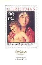 #2710 FD Program 25c Christmas Madonna Stamp w/7 autographs