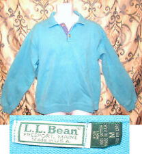 Vintage LL Bean Pullover Polo Sweater Polo Freeport Maine, USA Medium Turquis