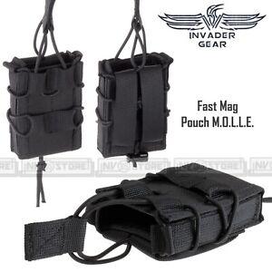 Porta Caricatore Singolo Fucile Fast Mag 5.56 INVADER GEAR Sistema MOLLE Nero BK